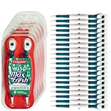 Colgate Wisp - Wisp Toothbrush - Spearmint - Camping Toothbrush - No Water Needed - Guaranteed Freshness. Mini Toothbrush Great for Camping, Traveling. Small Package, Compact, Contains 4 Disposable Toothbrushes. Clean Teeth and Fresh Breath - 5 Packs