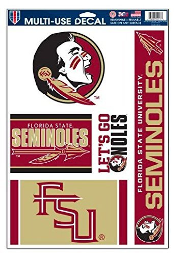 NCAA Florida State University Seminoles 11x17 Multi-Use Set of 5 Decals
