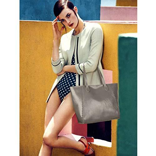 Crossbody Alta Bolso Cruzado Mujer La Gray Bolsos Suaves Moda Brown Capacidad Hombro Del color De wAYAaBqP