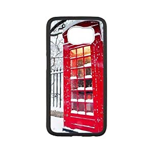 British Red Phone Booth Samsung Galaxy S6 Cell Phone Case White ZUB