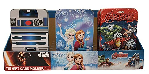 Gift Card Tins-Avengers, Frozen and Star Wars (Set of Six) by The Tin Box Company