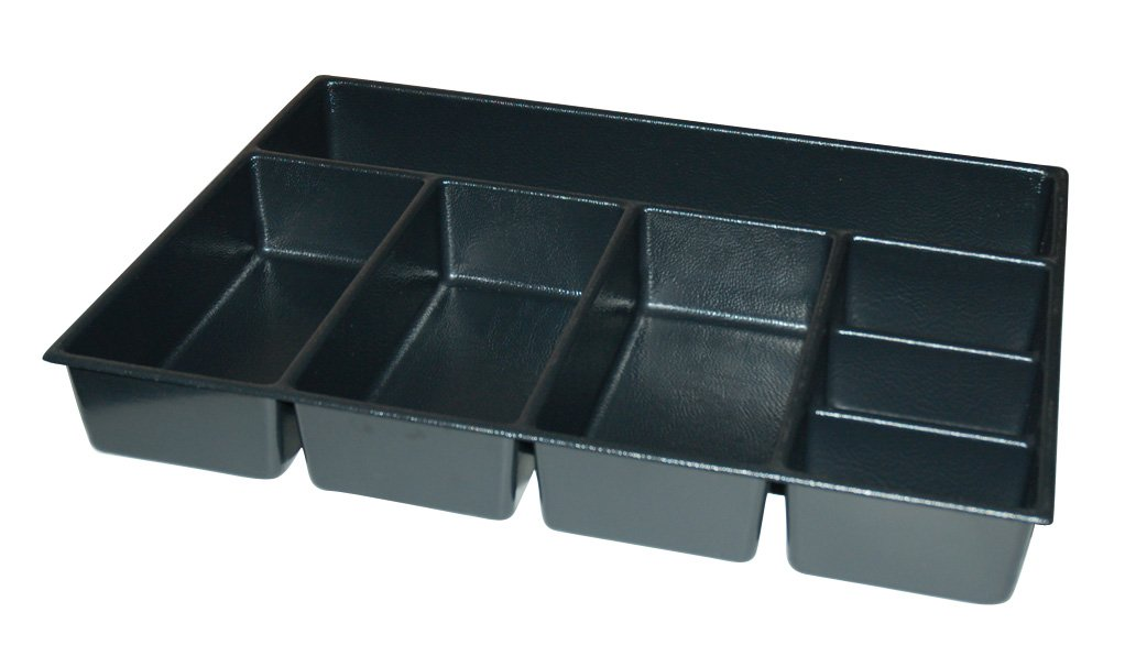 Kennedy Manufacturing 81931 4'', 7-Compartment Divider For 29'' W Kennedy Roller Cabinets & Chests, Industrial Black