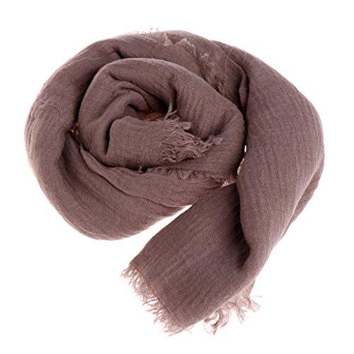 Misright Women Islam Maxi Crinkle Cloud Hijab Scarf Shawl Muslim Long Shawl Stole Wrap (Coffee)