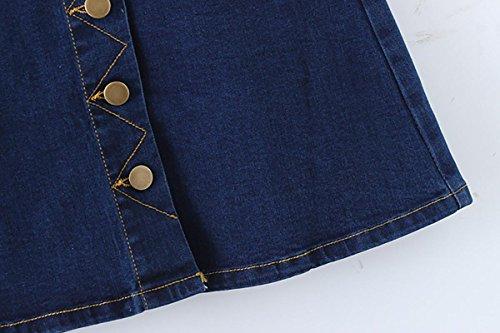 2017 nueva falda single-breasted falda de una falda de paquete falda de vaquero de la cadera