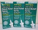 Nasal Relief Spray, Pump Mist, Anti-drip, Severe Congestion, (Oxymetazoline HCI) 12 Hours, 6 Pack