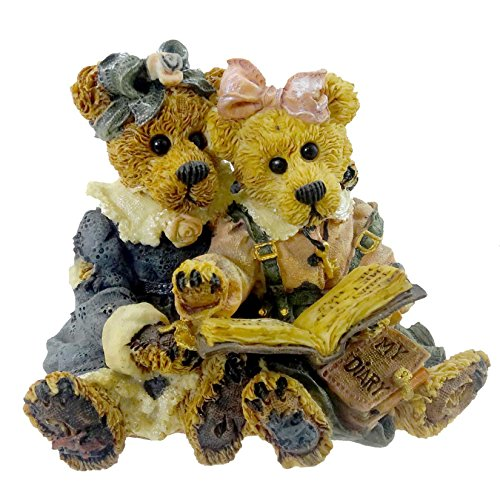 Boyds Bears Resin Bailey & Becky The Diary Friend Bearstone - Resin 3.00 IN