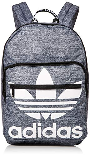 adidas Originals Unisex Trefoil Pocket Backpack, Onix Jersey|Black, ONE SIZE