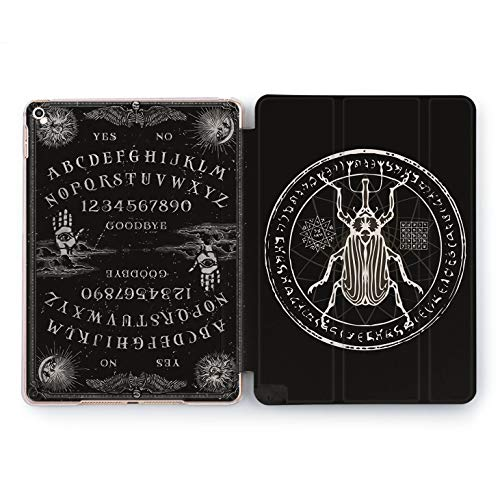 (Wonder Wild Ouija Bug Apple iPad Pro Case 9.7 11 inch Mini 1 2 3 4 Air 2 10.5 12.9 2018 2017 Design 5th 6th Gen Clear Smart Hard Cover Spiritual Occult Darkness Witch Scarab Death Monochrome Seal)