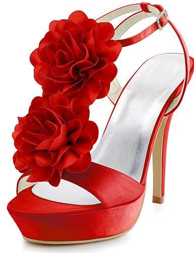 4 3 Nål Toe Tekstiler Prom Tac¨®n 3 Hjem Kvinder Sko 4in Silke rød Party Tal¨®n Peep Zq Aften Dress 4in hvid Bryllup 4in CTfCgaq