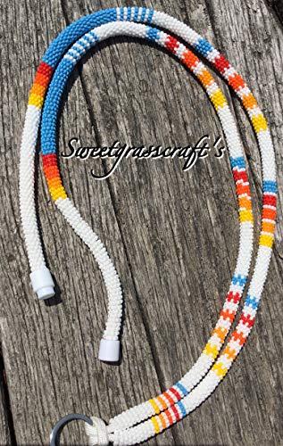 Safety Lanyard, Breakaway Lanyard, Beaded Lanyard,Native American Beaded Lanyard, Badge Holder, Keychain, Eye Glass Holder -