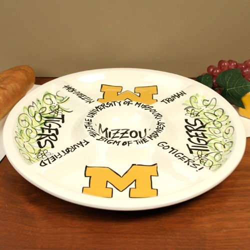 Missouri Tigers Business Card Holder - NCAA Missouri Tigers Ceramic Veggie Tray