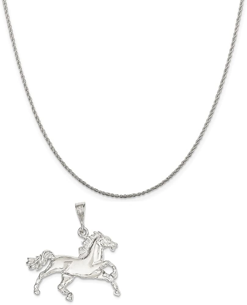 16-20 Mireval Sterling Silver Horse Charm on a Sterling Silver Chain Necklace