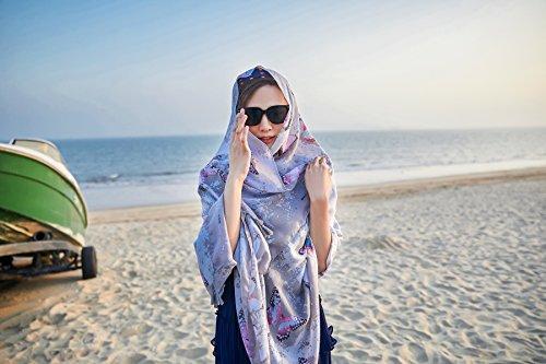 Stole Costumi Extra bagno Farfalla da solare Spiaggia amp; Sarong Nappe Felix ragazze e Donna Protezione Grande Copricostumi Scialli SiLK Pareo Wrap UV Grigio Bambine Sciarpe B4nngqwRO