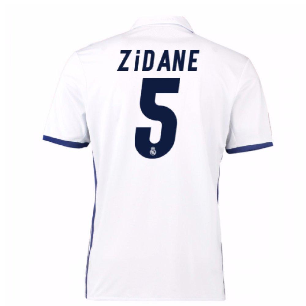 2016 – 17 Real Madrid Home Shirt ( Zidane 5 ) B0785QM641ホワイト XL 44-46\