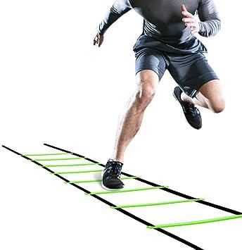 Rehomy Escalera de Agilidad Escalera de 5 M Flexibilidad de Fútbol Kit de Entrenamiento de Velocidad Escalera de Salto de Fitness para Niños Adultos (Verde): Amazon.es: Deportes y aire libre