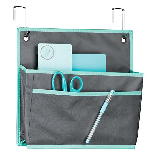 Cheap  mDesign Soft Fabric Over the Door Hanging Storage Organizer with Large Pocket..