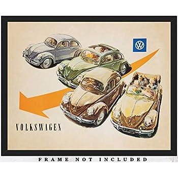 Volkswagen Camper Haynes Campervan Art Print Poster 36x24