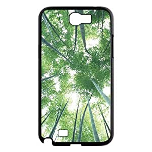 LZHCASE Diy Design Back Case Bamboo for Samsung Galaxy Note 2 N7100 [Pattern-1]