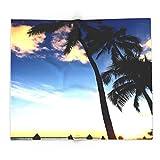 Society6 Hawaii Sunset Palm Tree Sea Beach Sky Blue 88'' x 104'' Blanket