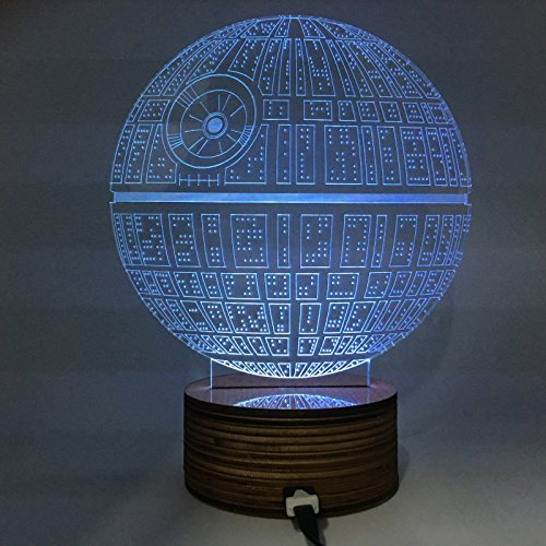 Force Awakens Multi-Colored Table Lamp 3D Death Star