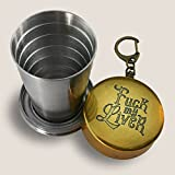 Fuck My Liver Portable Shot Glass - comes gift boxed fun drinking collapsible cup