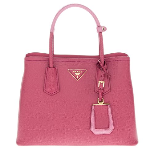 1b50b7bf530 ... Prada Saffiano Cuir Double Mini Tote Bag Pink buy popular d25db 93665  ... Amazon com Prada BR4997 Nero Tessuto Suffian Black Nylon ...