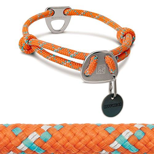 RUFFWEAR Rope Collar for Dogs, Medium, Pumpkin Orange, Knot-a-Collar ()