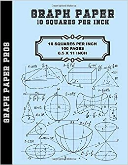 graph paper 10 squares per inch 10 x 10 grid 8 5 x 11 bound