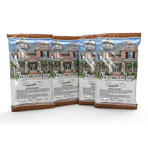 Creamer Amaretto - Victorian Inn Amaretto Coffee Creamer, 1lb Bag (4 Count)