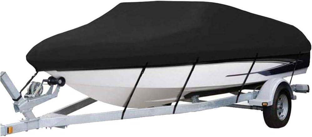 KKmoon Boot Abdeckung Yacht 420 cm x 270 cmAbdeckplane Wasserdicht Schlauchboot Reflektierendes 300D Oxford Gewebe f/ür V Hull TRI-Hull Runabouts und Bassboote 11-13FT Blau