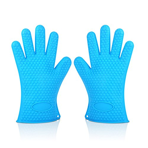 BBQ Dishwashing Gloves Soft Silicone Toaster Dutch Oven Specialized Mitts Icefire Gore Tex Water Ski Windstopper Mittens for Personalized Grilling Charbroil Campfire Camper Cooking Grill Camp 2 Sets (Longboard Heat)