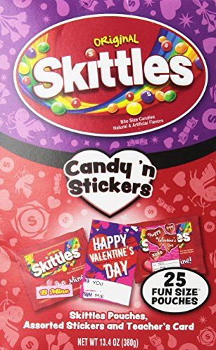 Skittles Candy N Stickers for Valentines ()