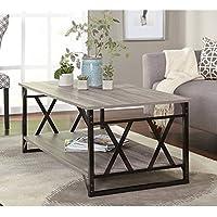 Simple Living Seneca XX Black/ Grey Reclaimed Look Cocktail Table