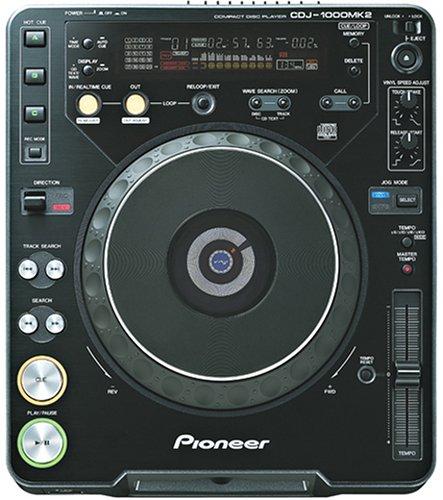 Pioneer CDJシリーズ プロフェッショナルCDプレーヤー ブラック CDJ-1000MK2   B0000C9CWV