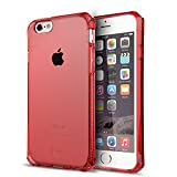 iPhone 5S / SE Case, ItSkins Spectrum Red Protective Case for Apple iPhone SE / 5SScratch Resistant Military Grade Tested Shock Absorbing Bumper for iPhone 5/5s/SE, Red Bumper