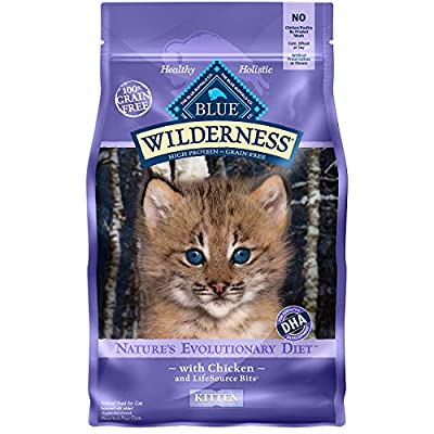Cat Food Blue Buffalo Wilderness High Protein, Natural Kitten Dry Cat... [tag]