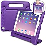 Cooper Dynamo Shock Proof Kids case Compatible with iPad Mini 4 | Heavy Duty Kidproof Cover for Kids | Girls, Boys, School | Kid Friendly Handle & Stand, Screen Protector | Apple A1538 A1550 (Purple)