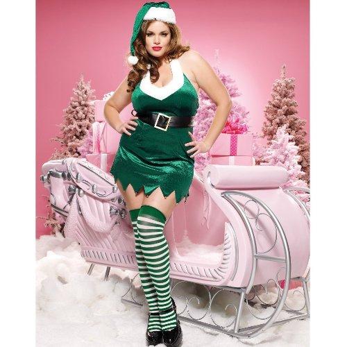 Miss Elf Costume - Plus Size 3X/4X - Dress Size (Leg Avenue Elf Costumes)