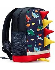 LESNIC Kids Dinosaur Backpack Medium Rucksack for 1-6 Years Old Boys & Girl, Anti-lost Strap Rucksack with Reins ,Dinosaur Rucksack Toddler Kids Bag 24.4 9.9 30.3cm/9.6 3.9 12in