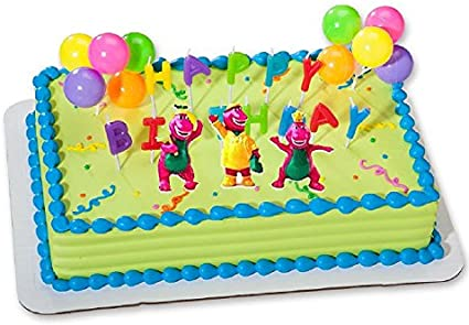 Marvelous Cakesupplyshop Ckb6Y Barney Birthday Cake Decoration Party Favors Personalised Birthday Cards Cominlily Jamesorg