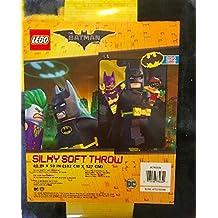 Lego Batman Movie Silky Soft Throw with Batman, Robin and Batgirl (40in x 50in)