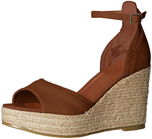 - Coconuts by Matisse Women's Bonvoyage Espadrille Wedge Sandal, Saddle, 7 M US