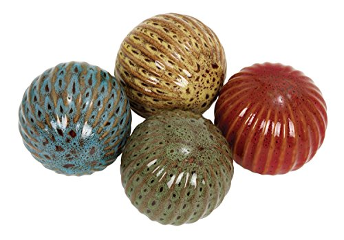 - Deco 79 Ceramic Ball, 18.5 by 15.35-Inch, Set of 4