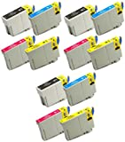 Virtual Outlet ® 12 Pack Remanufactured Inkjet Cartridges for Epson T127 #127, T127120 T127220 T127320 T127420 Compatible with Epson Stylus NX625, Stylus NX530, WorkForce 633, WorkForce 630, WorkForce 635, Workforce 840, Workforce 645, Workforce 845, WF-7010, WF-7510, WF-7520, WorkForce 60, WorkForce 545, WorkForce WF-3540, WorkForce WF-3520, WorkForce WF-3530 (3 Black, 3 Cyan, 3 Magenta, 3 Yellow)