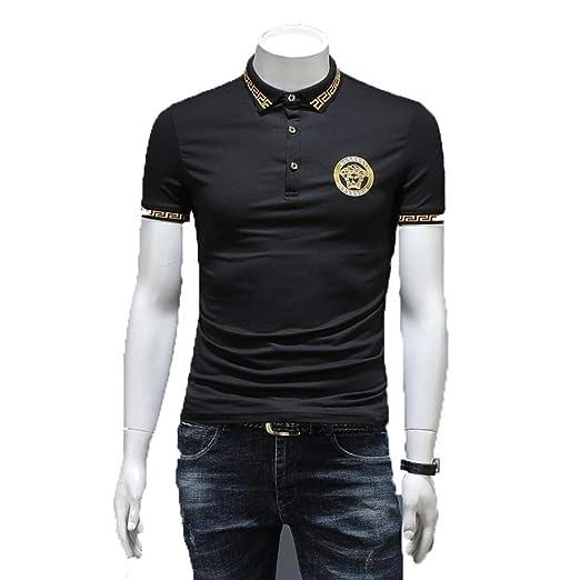 Camiseta para Hombre, Botón abotonado para hombre Botón de manga ...