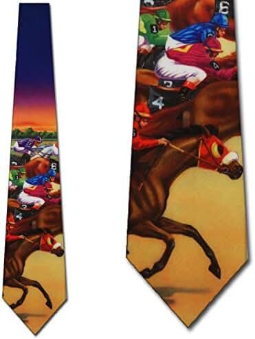 Horse Racing tie Mens Necktie