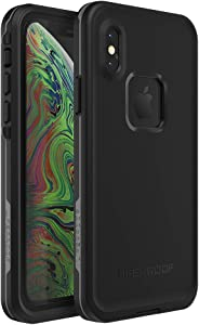 Lifeproof FRĒ SERIES Waterproof Case for iPhone Xs - (NOT compatible with iPhone XR or XS Max) - Retail Packaging - ASPHALT (BLACK/DARK GREY)