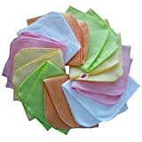 Babymajawelt® Paño de franela 25/25 - Conjunto de 10 - chica - colorido
