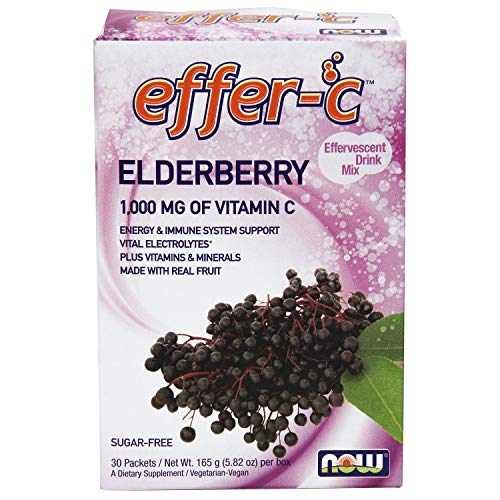 Powder Effervescent Packets (Now Supplements, Effer-CTM, Elderberry, 30 Packets)