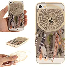 NEXCURIO iPhone 5S / SE / 5 Case Clear Soft Silicone Shockproof Scratch Resistant Protective Cover for Apple iPhone 5S / SE / 5 (Pattern #1)